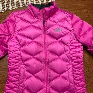 Girls Pink Aconcagua North Face Winter Jacket